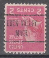 USA Precancel Vorausentwertung Preo, Locals Minnesota, Eden Valley 723 - Vereinigte Staaten
