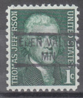 USA Precancel Vorausentwertung Preo, Locals Minnesota, Eden Valley 841 - Vereinigte Staaten