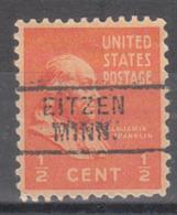 USA Precancel Vorausentwertung Preo, Locals Minnesota, Eitzen 729 - Vereinigte Staaten