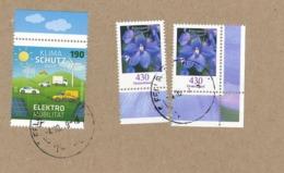 Blumen Rittersporn Mit Allonge - Klimaschutz Windrad Briefstück Auf Karton - [7] República Federal