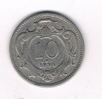 10 HELLER 1894 OOSTENRIJK /8693/ - Autriche