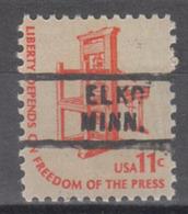 USA Precancel Vorausentwertung Preo, Locals Minnesota, Elko 729 - Vereinigte Staaten