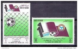 1992 QATAR 11th Arabian Gulf Football Cup   Complete Set 2 Values (MNH) - Qatar