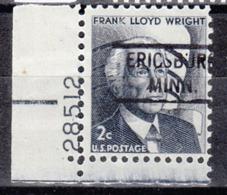 USA Precancel Vorausentwertung Preo, Locals Minnesota, Ericsburg 804, Plate# - Vereinigte Staaten