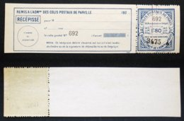 COLIS POSTAUX PARIS N° 91a TB Neuf N** Cote 85€ - Ungebraucht