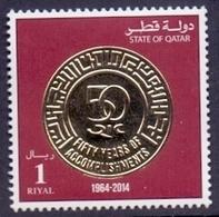 2014 QATAR 50 Years On Qatar Insurance Company 1Values MNH - Qatar