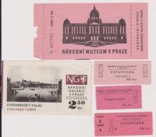 Lot 5 Tickets Visites Château Et Musée De Prague République Tchèque Années 80' - Tickets - Entradas