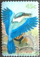 132.AUSTRALIA (45C) USED STAMP SACRED KINGFISHER , BIRDS - 1990-99 Elizabeth II