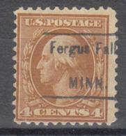 USA Precancel Vorausentwertung Preo, Locals Minnesota, Fergus Falls 1917-462, Bottom Tear - Vereinigte Staaten