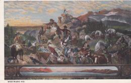 Militaria. U.S.A. WESTWARD HOI (Painting By Emanuel Leutze In The Capitol, Washington) - Andere Kriege
