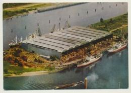 AK  Hamburg Waltershof Freihafen Fabrik Luftaufnahme Info AK - Germania