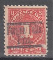 USA Precancel Vorausentwertung Preo, Locals Minnesota, Fergus Falls J61-553, Stamp Defect - Vereinigte Staaten
