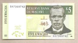 Malawi - Banconota Non Circolata FdS Da 5 Kwacha P-36b - 2004 #18 - Malawi