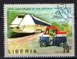 LIBERIA - 1974 - Futuristic Mail Train And Mail Truck - USATO - Liberia