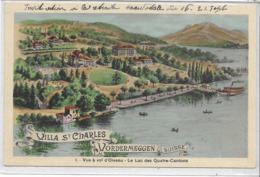SUISSE . LUZERN . VORDERMEGGEN . Villa St-Charles , Lac Des 4 Cantons ,  édit :  , Années 10 , état Extra - LU Lucerne