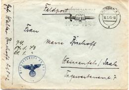"""(2WK-3) Original Feldpostbrief 2.WK  MWSt 16.1.1943 Dresden A1 """"KRIEGS-WHW 1942-1943"""" Gelaufen Nach Weissenfels/Saale - Briefe U. Dokumente"""