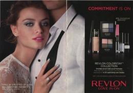 PUBLICITES USA MAGAZINE ADVERTISING WERBUNG REKLAME PUBBLICITI RECLAME PUBLICIDAD Fo MAKE UP REVLON COLORSTAY COLLECTION - Publicidad