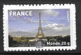 France 2009 Timbre Adhésif Neuf N°335A Tour Eiffel à La Faciale - France