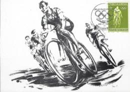 28.7.1984  -  Cyclime - Oeuvres De Jean Jacoby,Médaille D'Or Des Jeux Olympiques De Paris ( 1924 ) Et Amsterdam ( 1928 ) - Tarjetas Máxima