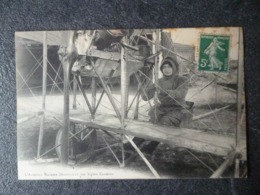 Cpa  80  Le Crotoy   L'aviatrice Madame Driancourt Sur Biplan Caudron - Le Crotoy