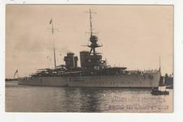 CARTE PHOTO - BATEAU DE GUERRE - SAIGON LE 14 MARS 1924 - Militaria