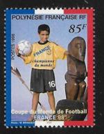 French Polynesia 1998 Overprinted France Championship Soccer MNH - Polynésie Française