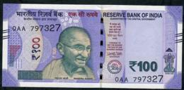 INDIA P112a 100 RUPEES 2018 EARLY PREFIX #0AA Signature 22 NO LETTER  UNC. - India