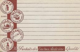 Buvard Publicitaire Des Produits Des Encres Antoine - Buvards, Protège-cahiers Illustrés