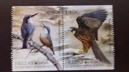 GREECE, 2019, MNH, BIRDS, EUROPA 2019,HAWK S, KINGFISHERS,  2v IMPERFORATE Ex. BOOKLET - 2019