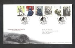 Nbd0163b BEROEMDE PERSONEN HOND PAARD DOG HORSE JANE EYRE CHARLOTTE BRONTË BOOK FAMOUS PEOPLE GREAT BRITAIN 2005 FDC - Cuentos, Fabulas Y Leyendas