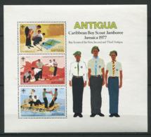 256 ANTIGUA 1977 - Yvert BF 26 - Scout Scoutisme Jamboree - Neuf ** (MNH) Sans Charniere - Antigua & Barbuda (...-1981)
