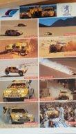 Feuille D' Auto-collants PARIS DAKAR  87 En Haut à Droite La Mention  PEUGEOT  CHAMPION DU MONDE DES RALLYES 1985à1996 - Andere Verzamelingen
