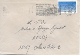 2736 - ST FLORENT SUR CHER Son Château, Sa Piscine Climatisée, Son Camping, Les Bords Du Cher Au 5-2-92 - Sellados Mecánicos (Publicitario)
