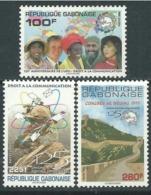 GABON 1999 YT 976 / 978 UPU - AFRICA MAP - RARE MNH - Gabon