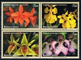 Nations-Unies (Genève) - Orchidées 521/524 (année 2005) ** - Orchidées