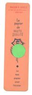 """Marque-pages Publicitaire - """"PAPIER 5 """". - Maison V. Faville à Verviers (b260/5) - Marque-Pages"""