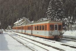 74 ARGENTIERE UNE DES Z 600 EN GARE LIGNE A VOIX METRIQUE VALLÉE DE  CHAMONIX  MONT BLANC CHATELARD MARTIGNY - Chamonix-Mont-Blanc