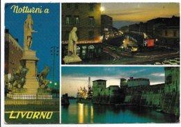 Livorno - Notturni - Insegna Birra Peroni Nella Prima Veduta In Alto A Destra. - Livorno