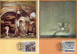 SUEDE. N°1160-3 De 1982 Sur 4 Cartes Maximums. Contes Suédois. - Cuentos, Fabulas Y Leyendas