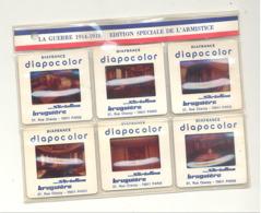 Pochette De 6 Diapositives Guerre 14/18 Edition Spéciale Armistice - Compiegne , Clairière De L'armistice (safi) - Dias