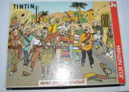 TINTIN VOL L'OREILLE CASSEE PUZZLE NATHAN DE 250 PIECES 31X41,5cm Avec Poster Complet Bon état  Voir Photos - Puzzles