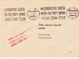 Tchecoslovaquie , De Brno En 1971, Championnat Du Monde De Moto   TB - Tschechoslowakei/CSSR