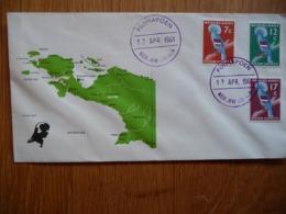(1) Nederlands Nieuw Guinea - 1961 - RONDSTEMPEL PRIMAPOEN Op Special Cover Met Landkaart Van NNG - No Address - Nederlands Nieuw-Guinea