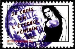 France Poste AA Obl Yv: 543 Mi:5064 Je Crois En L'éternel Féminin Miss.Tic - Adhésifs (autocollants)
