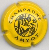 CAPSULE-CHAMPAGNE AMYOT N°02 Jaune & Noir - Autres