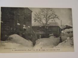 ARDECHE-2-ROCHEPAULE SOUS 1M50 DE NEIGE LE 02 JANVIER 1918-ANIMEE - France