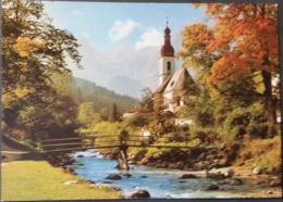 Ak Deutschland  - Ramsau - Kirche,church,Eglise - Berglandschaft - Kirchen U. Kathedralen