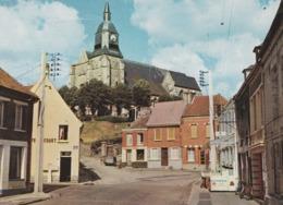 """Cpsm 10x15 . AUXI-LE-CHÄTEAU (62) Rue De L'Eglise (Café """"..cquet"""" ) - Auxi Le Chateau"""