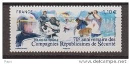 2014 -N°4922** POLICE NATIONALE C.R.S.** - Neufs