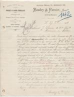 Charente: BAUDRY & Farnier à Cognac, Fabrique Caisse D'Emballage / Fact De 1918 Filigrane - 1900 – 1949